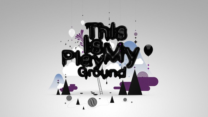 Abstract ground playground shapes simple background wallpaper