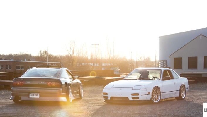 Sunset cars white silver jdm onevia nissan sileighty wallpaper