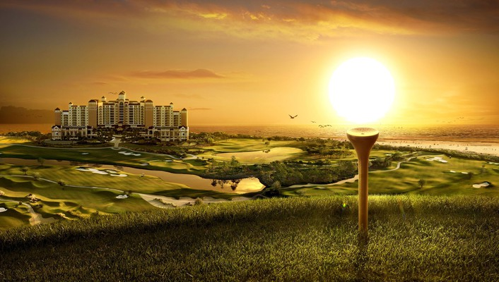 Golf digital art wallpaper