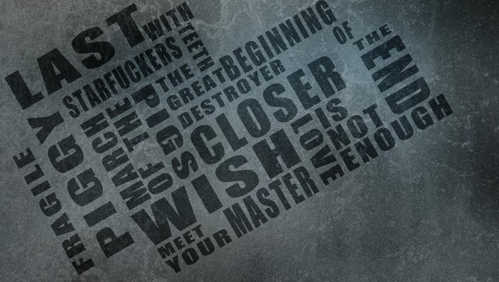 Nine inch nails typography wallpaper
