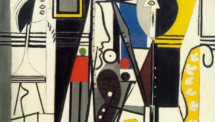 Abstract studio spanish artwork pablo picasso traditional art wallpaper