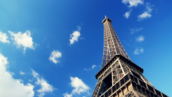 Eiffel tower paris skyscapes wallpaper