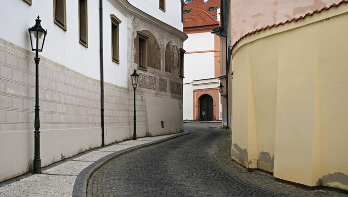 Czech republic prague streets wallpaper