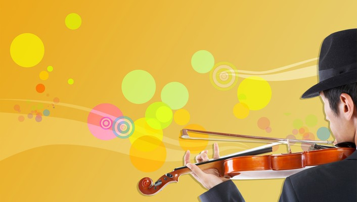 Music vector art violins wallpaper
