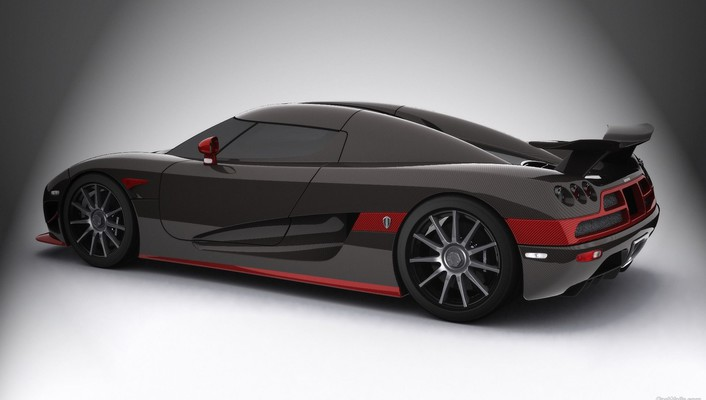 Koenigsegg black cars red wallpaper