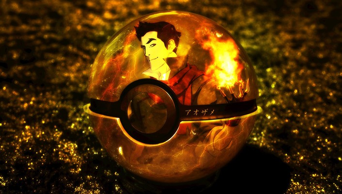 Digital art artwork 3d fan mako pokeball wallpaper