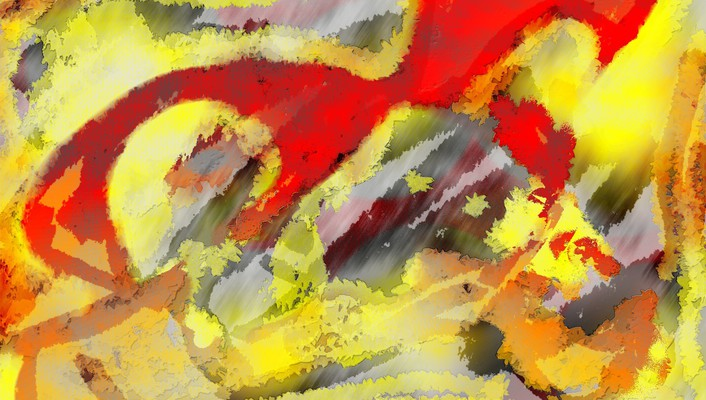 Abstract red multicolor paint wallpaper