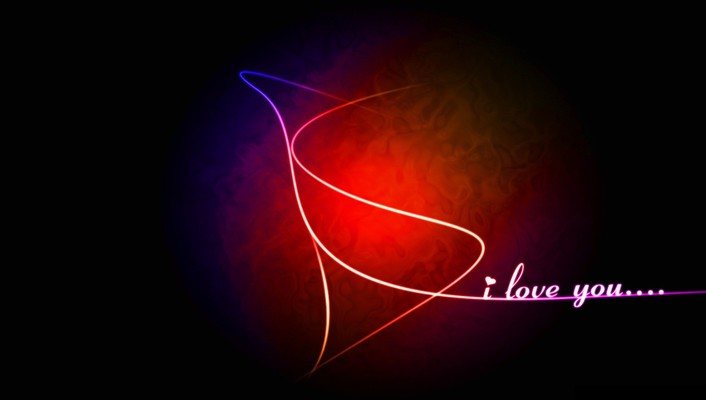 Abstract love i you wallpaper