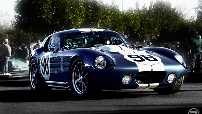Shelby cobra blue cars number racing stripes wallpaper