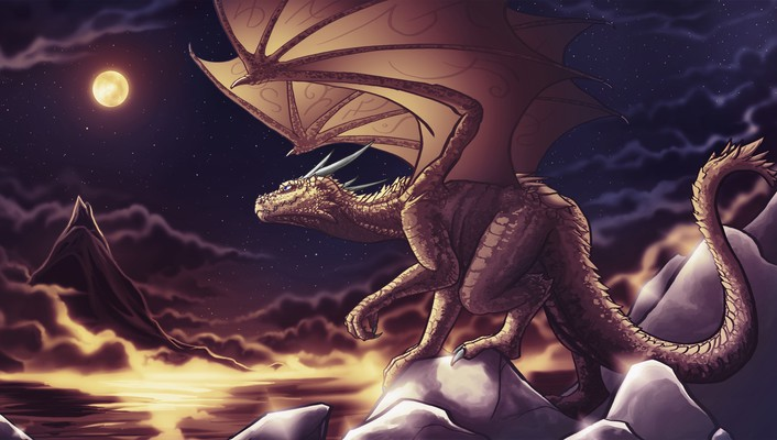 Fantastic creatures digital art dragons fantasy wallpaper