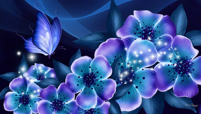 Nights blue dreams wallpaper