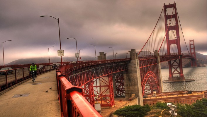 Golden gate bridge san francisco bridges sea wallpaper