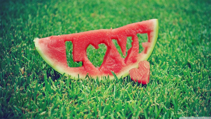 Abstract love watermelons wallpaper