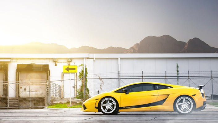 Supercars yellow cars lamborghini gallardo lp570-4 performante wallpaper