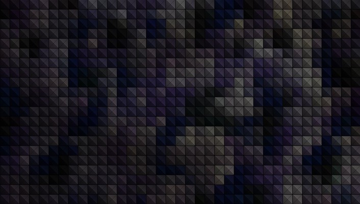 Blue minimalistic gray pixels camouflage dark squares pixel wallpaper
