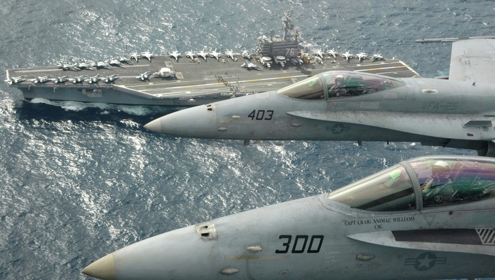 Carrier fly by wallpaper