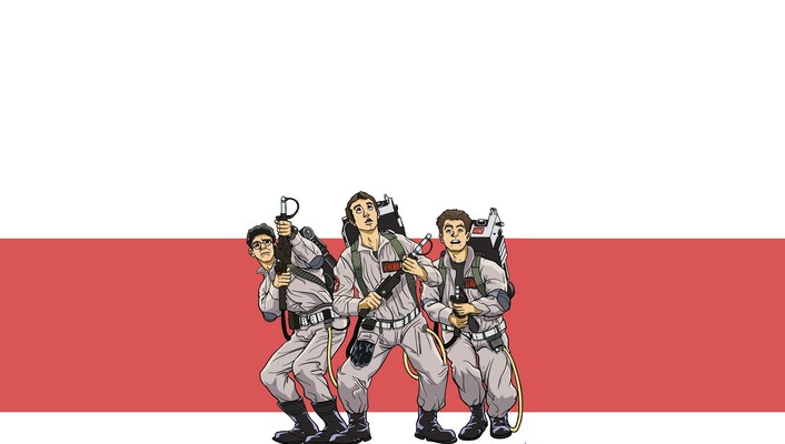 Movies cartoonish ghostbusters bill murray artwork dan aykroyd wallpaper
