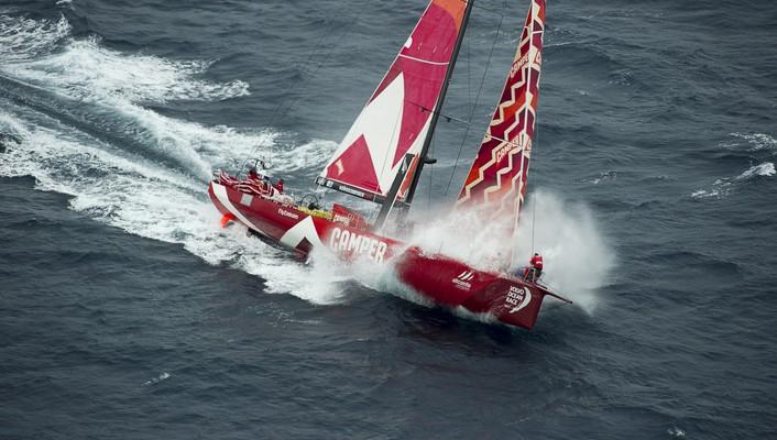 Volvo ocean race sailboats ships vehicles wallpaper