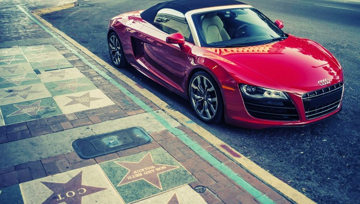 Cars convertible audi r8 v10 wallpaper