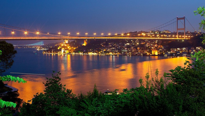 Bosphorus bridge fatih sultan mehmet istanbul turkey bridges wallpaper