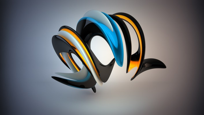 3d abstract blades twisted wallpaper