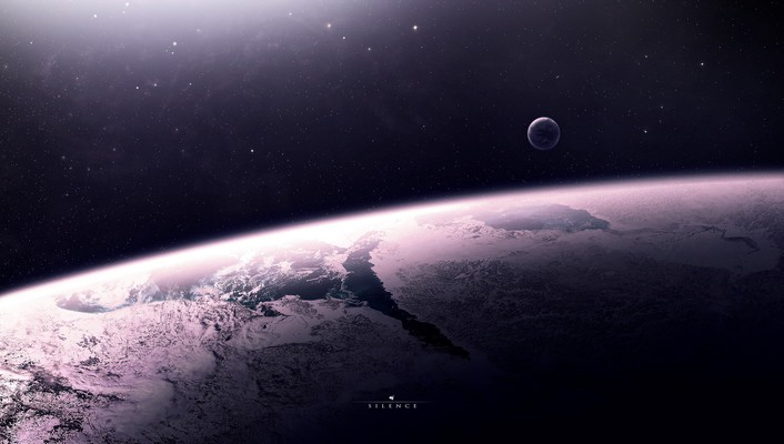 Outer space stars planets fantasy art wallpaper