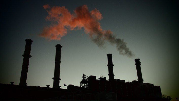 Capitalism industrial plants landscapes smoke urban wallpaper