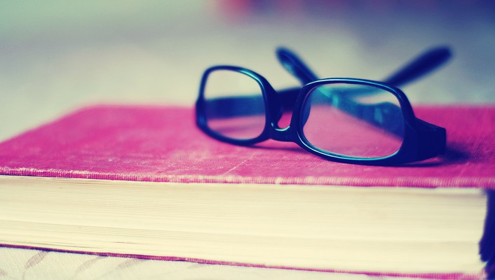 Glasses books funky wallpaper