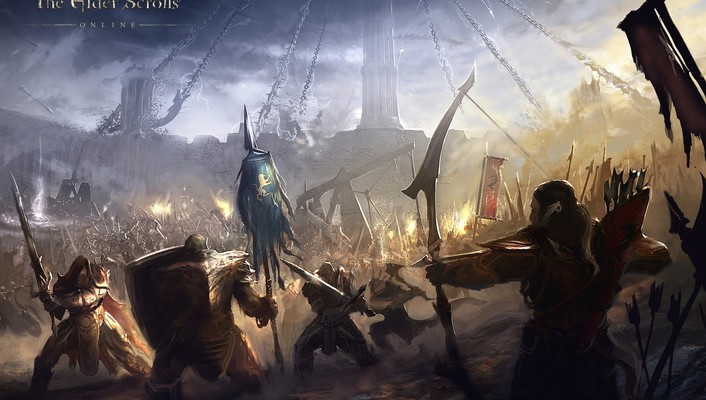 Fantasy art concept the elder scrolls online wallpaper