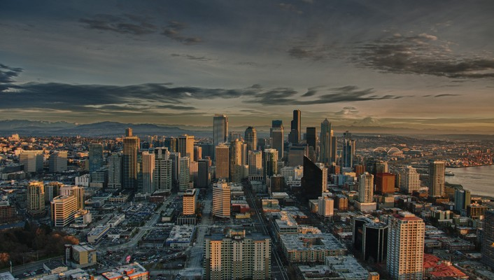 Cityscapes seattle hdr photography wallpaper