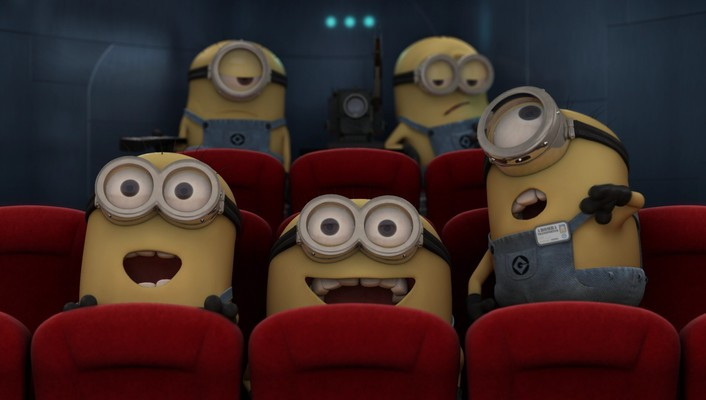Minions in cinema wallpaper