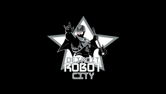 Robocop detroit robot city kiss music band wallpaper