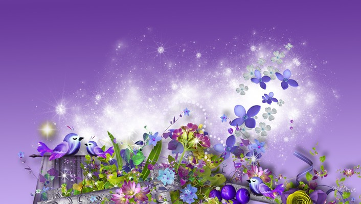 Lavender summer dreams wallpaper