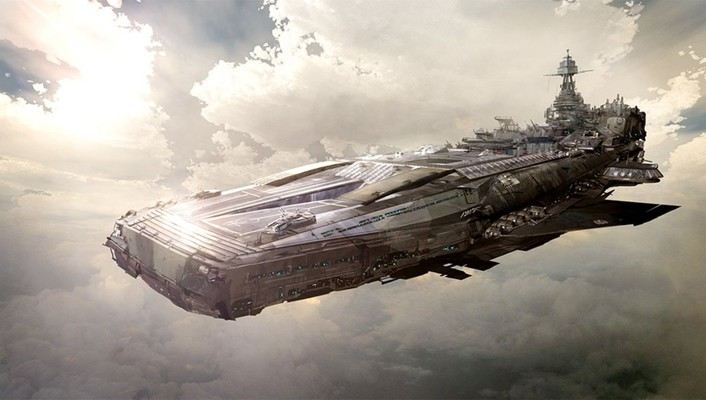 Ships airship skyscapes wallpaper