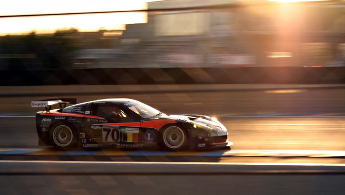 Corvette cars racing wallpaper