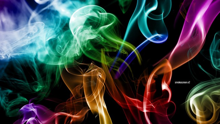 Smoke imagine colors wallpaper