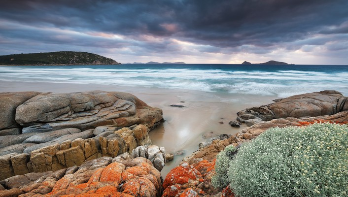 Coast rocks australia hdr photography skies beach wallpaper