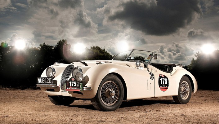 Jaguar xk120 cars roadster wallpaper