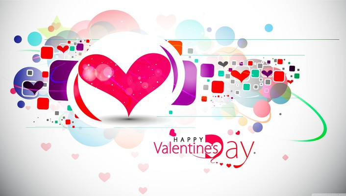 Valentines day abstract happy wallpaper