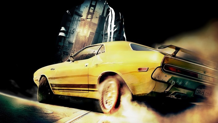 Cars driver: san francisco dodge challenger r/t wallpaper