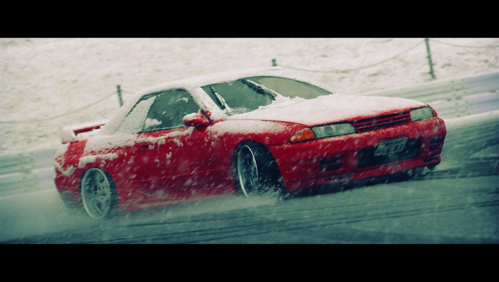 Nissan skyline r32 blizzard drifting cars snow wallpaper