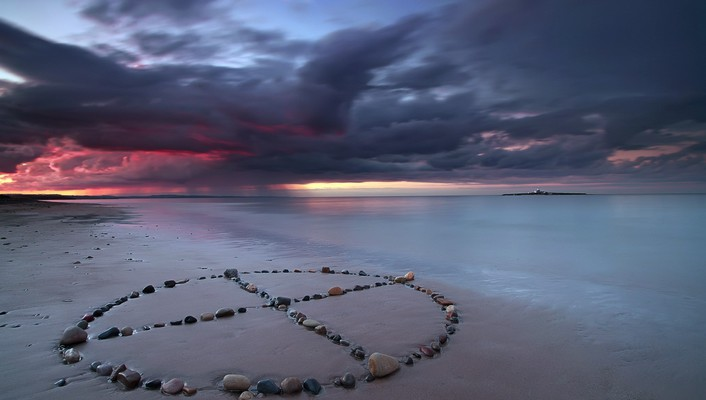 Landscapes symbols beach wallpaper
