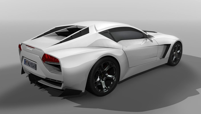 White design lamborghini concept art rearview 2009 toro wallpaper
