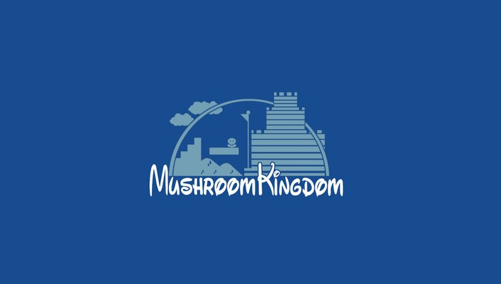 Funny parody logos simple background mushroom kingdom wallpaper