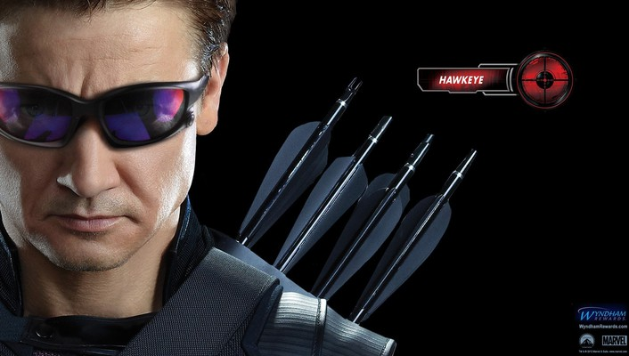 Hawkeye jeremy renner the avengers movie faces wallpaper