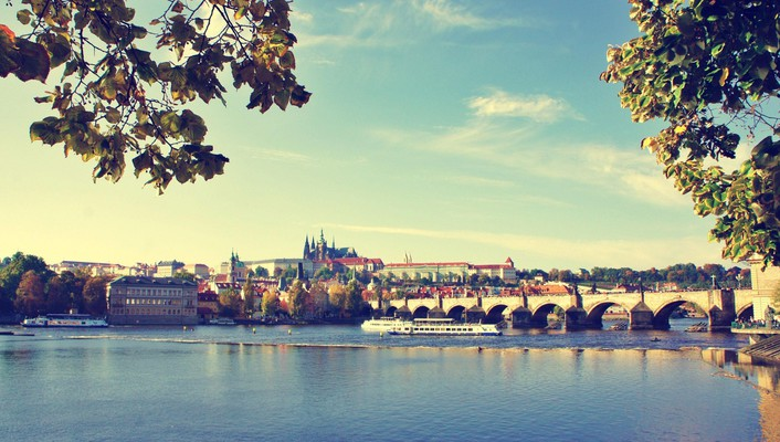 Cityscapes prague rivers praha wallpaper