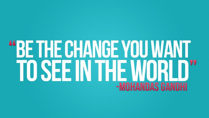 Quotes change mahatma gandhi wallpaper