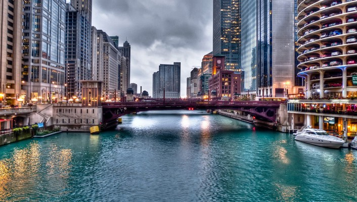 Chicago bridge wallpaper
