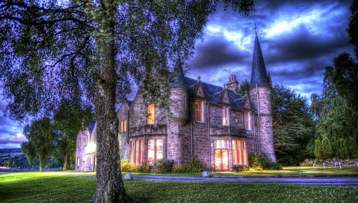 Wonderful bunchrew house in inverness scotland hdr wallpaper
