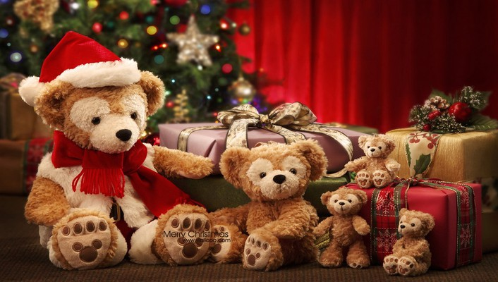 Cute teddy bear family wallpaper